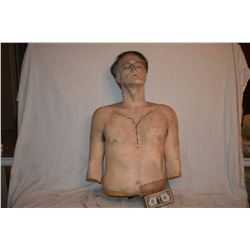 SIX FEET UNDER AUTOPSY BUST WITH BRAIN SURGERY SCAR SCREEN MATCHED