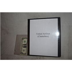 ZZ-CLEARANCE UNITED AIRLINES [CHATTERBOX] BTS PHOTO BOOK