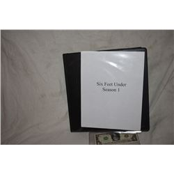 ZZ-CLEARANCE SIX FEET UNDER SEASON 1 BTS CORPSE PRODUCTION PHOTO BOOK