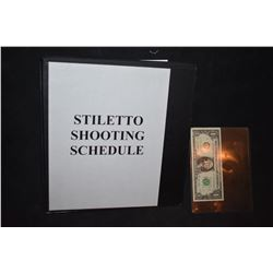 ZZ-CLEARANCE STILETTO SHOOTING SCHEDULE BTS PRODUCTION BOOK
