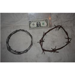 ZZ-CLEARANCE BARB WIRE LOT OF TWO METAL AND RUBBER