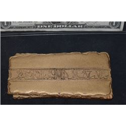 STAR TREK DEEP SPACE NINE QUARK GOLD LACED LATINUM BAR