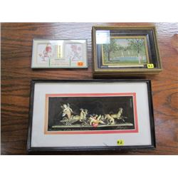 3 Framed Photos Pictures
