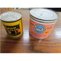 Old Baby Formula Tin + Reliance Water Glass Tin