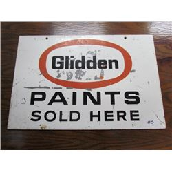 Glidden Paints Metal sign 24x16