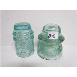 2  Blue glass Insulators