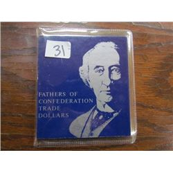 Folder Fathers of Confederation Trade Dollars