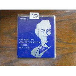 Folder Fathers of Confederation Series II Trade Dollars