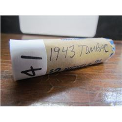 Roll of Canadian 5cent Tombac 1943