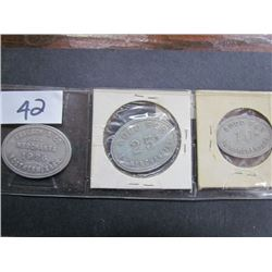 Display 3 Friesen + Sons 50cent Tokens 1926