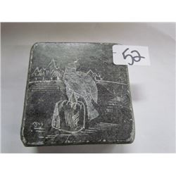 Original Inuit Carving by Dimu of an eagle on soap stone