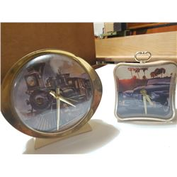 Two Clocks- Wind up, home made display