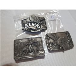 3 good quality belt buckles