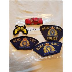 4 RCMP patches + Car