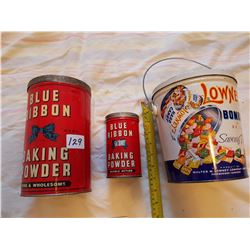 3 Assorted Tins
