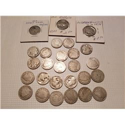 27 Old U.S. 5 Cent Coins