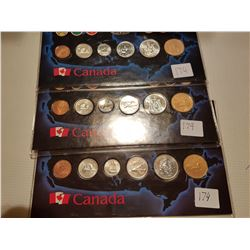 1993,1994 and 1995 Uncirculated Sets