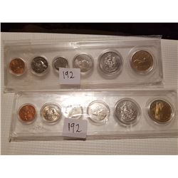1992 and 1993 Coin Sets uncirculated