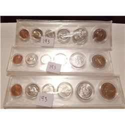 1994,1995,1996 Coin Sets uncirculated