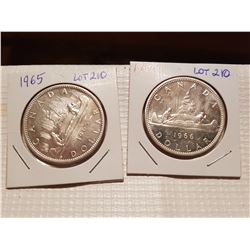 1965 and 1966 Silver Dollars