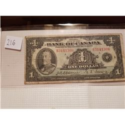 1935 one dollar bill