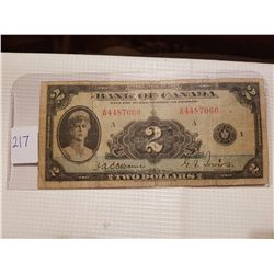 1935 two dollar bill
