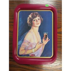 1927 Calendar Girl Coca Cola Tray