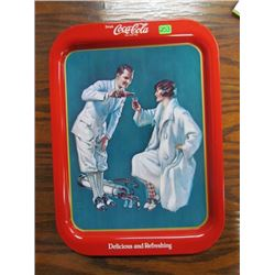 Golfing Couple 1926 coca cola tray