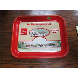 Red River Co-Operative Ltd Winnipeg Manitoba Coca Cola tray