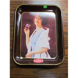 "Reproduction of 1923 ""Flapperfirl"" Coca Cola Tray"