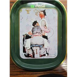 Very Uncommon After The Tatto Artist Coca Cola Tray