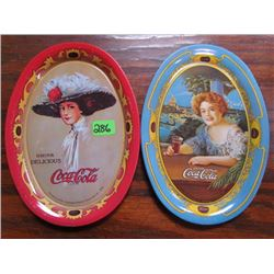 2 Coca Cola Tip Trays