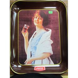 1923 Reproduction of flapper girl advertising Coca Cola Tray
