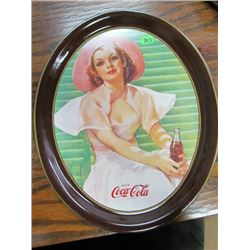 Smaller Reproduction of 1938 Calendar Illustrated by Bradshaw Crandall coca cola tray