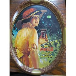 Larger Reproduction of World War I Girl Advertisment 1976 Coca Cola Tray