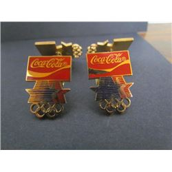 4 Coca Cola Pins Olympic