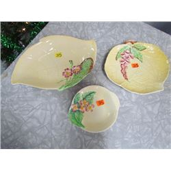 3 pieces Carlton ware Dishes