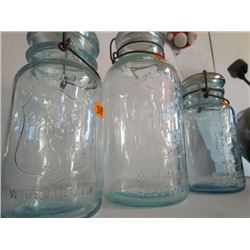 3 Seaters Wire top Perfect Seal Jars