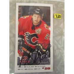 Robyn Regehr Signed Card