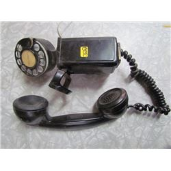 Black Metal Rotary Phone