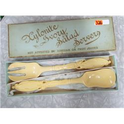 Xylonite Ivory Salad Server