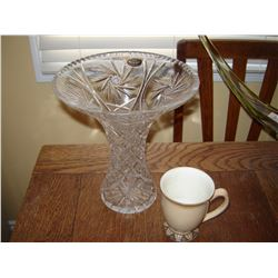 Pin wheel Crystal vase