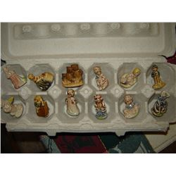 12 different Wade Nursery rhymes figurines