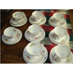 Royal Doulton Arcadia pattern 8 cups, saucers and plates