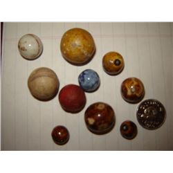 Lot of very old marbles clay