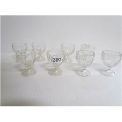 Set of 8 glass egg cups