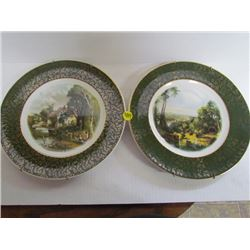 2 Wood And Sons Decorative Wall Plates
