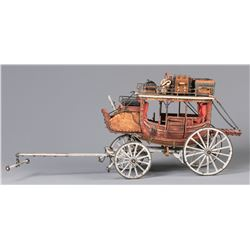 Roy Luttrell Miniature Deadwood Stagecoach