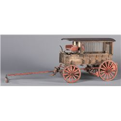Roy Luttrell Miniature Marshal's Wagon