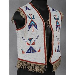 Sioux Man's Beaded Vest